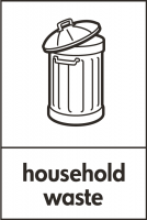 Recycling Sticker - Household Waste (WRAP Compliant)