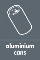 Recycling Sticker - Aluminium Cans (WRAP Compliant)
